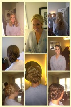 Bride, 3 Bridesmaids and one flower girl Hair and Airbrush