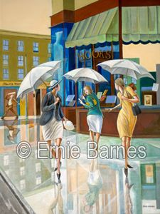 """Parting Ways"""" limited edition giclee by Ernie Barnes"""