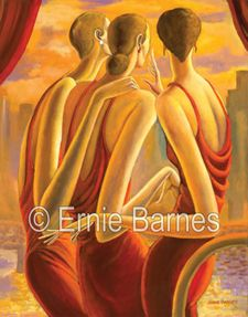 """The View"""" limited edition giclee by Ernie Barnes"""