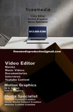 Video Editing and Motion Graphics